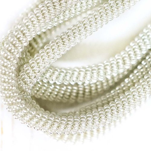 10g argent ronde spirale de cuivre torsadés broderie à la main française fine métallique coupe-fil o sku-133347