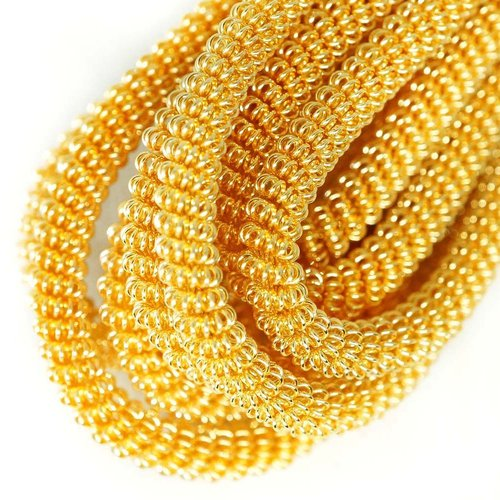10g ronde en or spirale de cuivre torsadés broderie à la main française fine métallique coupe-fil or sku-133348