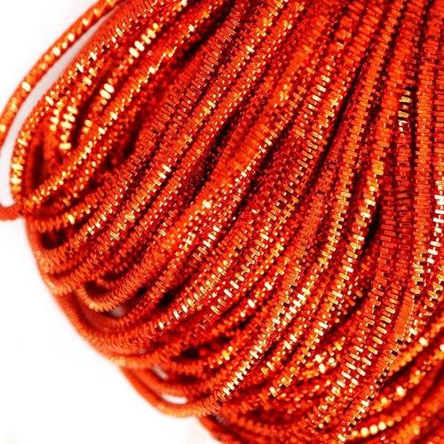 10g orange foncé rond lingots spirale de cuivre à la main broderie française fine du fil métallique  sku-133250