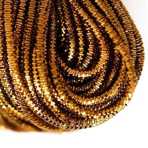 10g de bronze ronde en or lingots spirale de cuivre à la main broderie française fine du fil métalli sku-133254