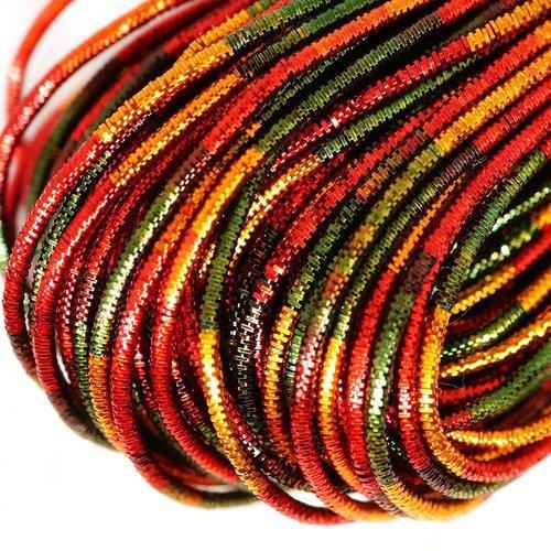 10g multicolore ronde en or lingots spirale de cuivre à la main broderie française fine du fil métal sku-133255
