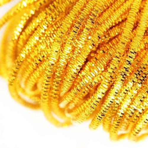10g or jaune ronde lingots spirale de cuivre à la main broderie française fine du fil métallique orf sku-133269