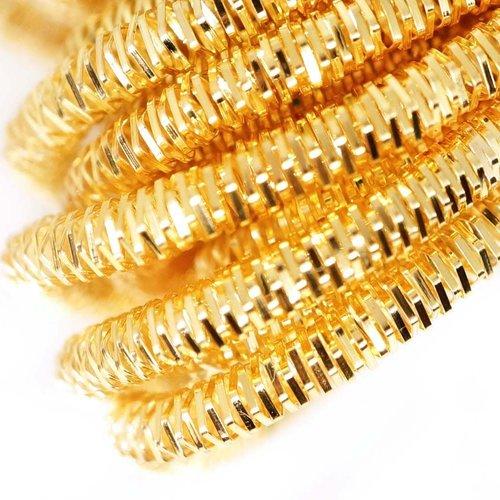 10g lumineux rond en or lingots spirale de cuivre à la main broderie française fine du fil métalliqu sku-133271