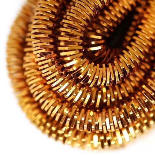 10g de bronze foncé ronde en or lingots spirale de cuivre à la main broderie française fine du fil m sku-133272