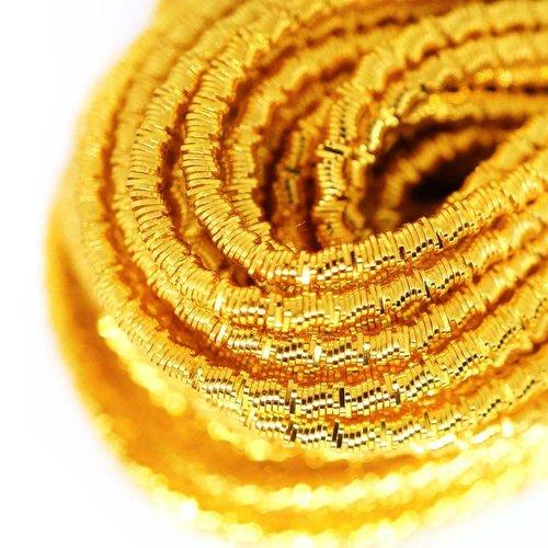 10g or jaune ronde agité spirale de cuivre à la main broderie française fine métallique coupe-fil or sku-133317