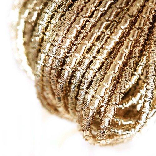 10g lumière ronde en or agité spirale de cuivre à la main broderie française fine métallique coupe-f sku-133318