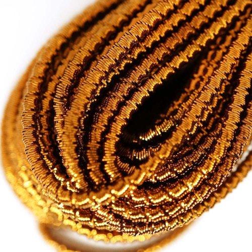 10g de bronze ronde en or agité spirale de cuivre à la main broderie française fine métallique coupe sku-133320