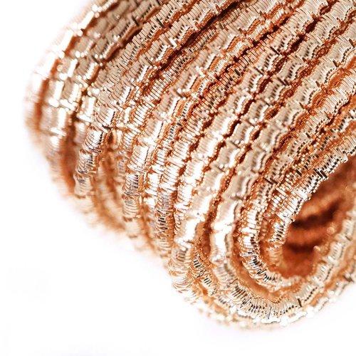 10g or rose rond ondulé en spirale de cuivre à la main broderie française fine métallique coupe-fil  sku-133321