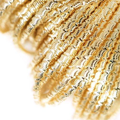 10g de lumière or brillant rond ondulé en spirale de cuivre à la main broderie française fine métall sku-133322