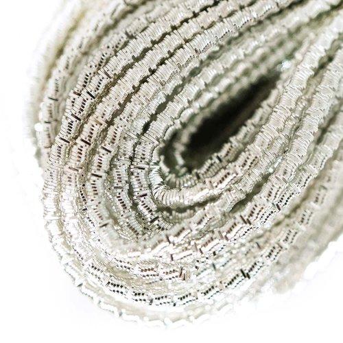 10g d'argent rond ondulé en spirale de cuivre à la main broderie française fine métallique coupe-fil sku-133323