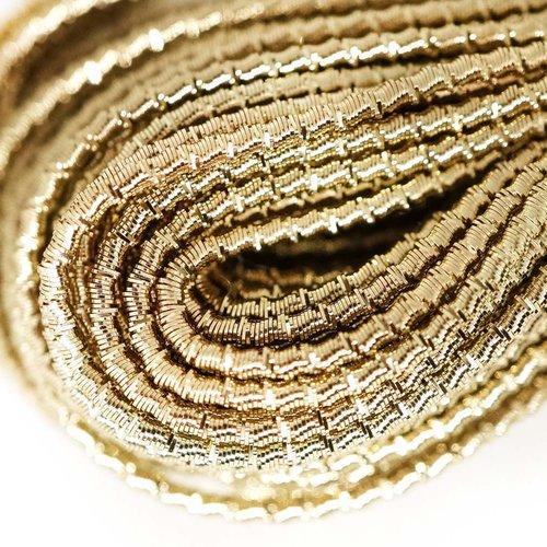 10g dark or pâle rond ondulé en spirale de cuivre à la main broderie française fine métallique coupe sku-133324