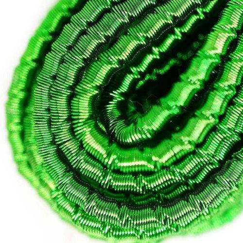 10g herbe rond vert agité spirale de cuivre à la main broderie française fine métallique coupe-fil o sku-133325