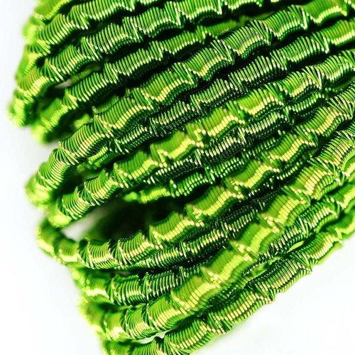 10g d'olive rond vert agité spirale de cuivre à la main broderie française fine métallique coupe-fil sku-133326