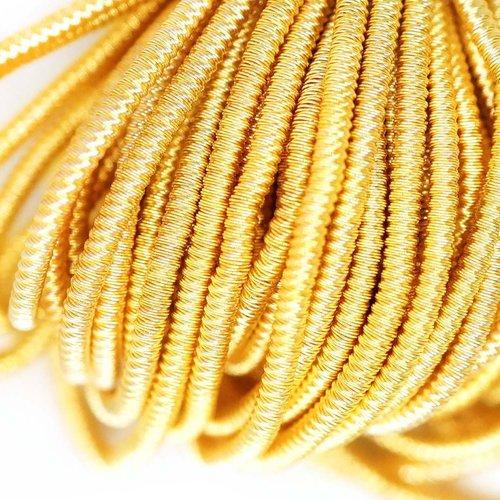 10g de lumière en or jaune ronde spirale de cuivre à la main broderie française fine métallique coup sku-133330