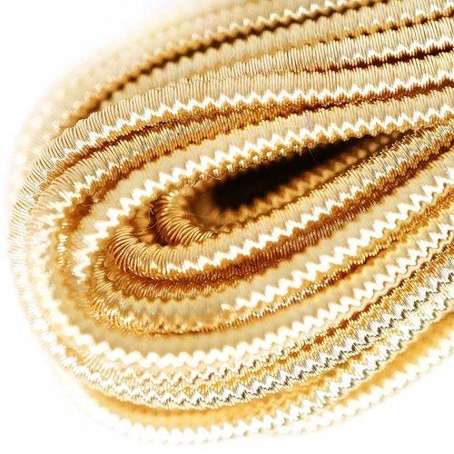 10g d'or et de lumière ronde spirale de cuivre à la main broderie française fine métallique coupe-fi sku-133332