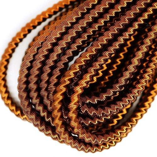 10g de bronze ronde en or spirale de cuivre à la main broderie française fine métallique coupe-fil o sku-133338
