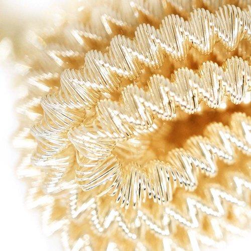 10g de crème ronde en or spirale de cuivre à la main broderie française fine métallique coupe-fil or sku-133341