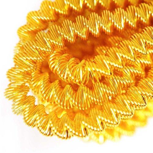 10g or jaune ronde spirale de cuivre à la main broderie française fine métallique coupe-fil orfèvrer sku-133343