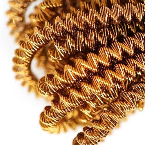 10g de bronze antique rond en or spirale de cuivre à la main broderie française fine métallique coup sku-133344