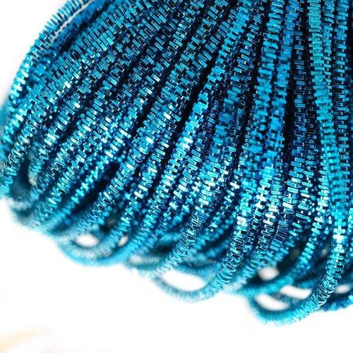 10g bleu turquoise ronde lingots spirale de cuivre à la main broderie française fine du fil métalliq sku-133243