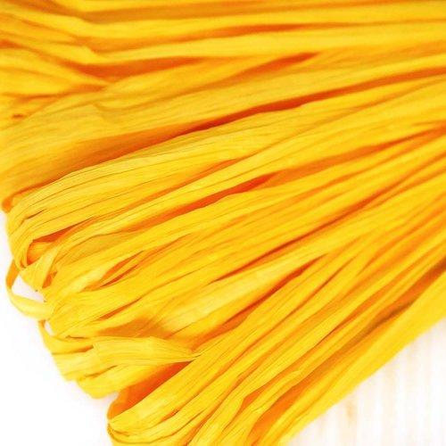 5m lumière jaune mat plat raphia bande en nylon de broderie à la main en fil d'orfèvrerie luneville  sku-133657
