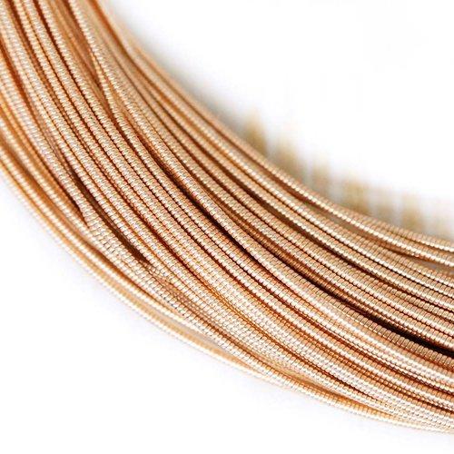 10g or rose ronde rigide de cuivre à la main broderie française fine métallique coupe-fil orfèvrerie sku-133481