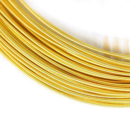 10g or jaune ronde rigide de cuivre à la main broderie française fine métallique coupe-fil orfèvreri sku-133486