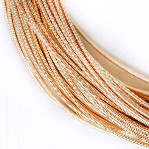 10g or rose ronde rigide de cuivre à la main broderie française fine métallique coupe-fil orfèvrerie sku-133487