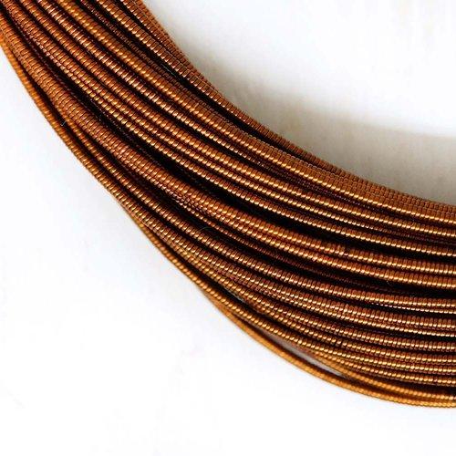 10g de bronze antique rond en or rigide de cuivre à la main broderie française fine métallique coupe sku-133488