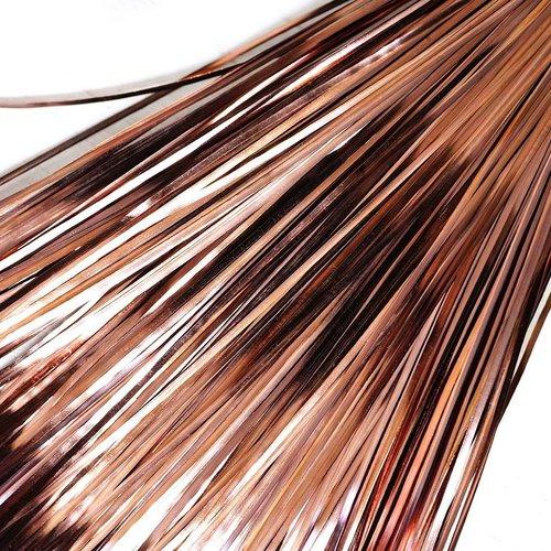 10g 60pcs bronze plat de bande de cuivre à la main broderie français du fil métallique orfèvrerie lu sku-133572