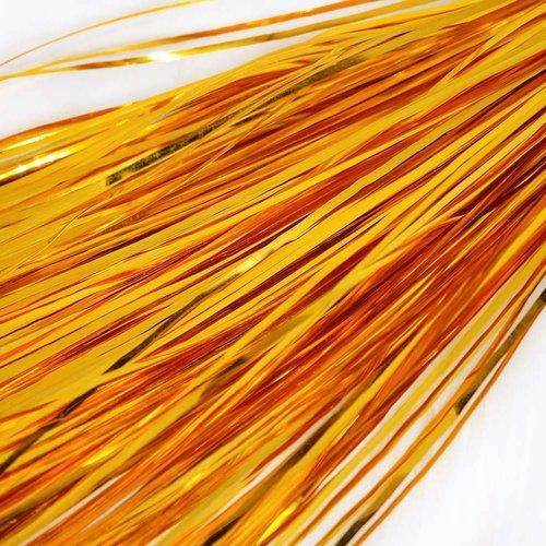 10g 60pcs miel de l'or plat de bande de cuivre à la main broderie français du fil métallique orfèvre sku-133573