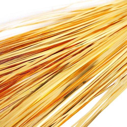 10g 60pcs de l'or plat de bande de cuivre à la main broderie français du fil métallique orfèvrerie l sku-133574