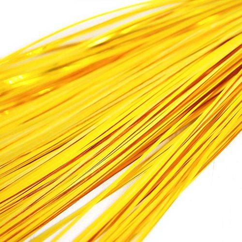 10g 60pcs or jaune plat de bande de cuivre à la main broderie français du fil métallique orfèvrerie  sku-133575
