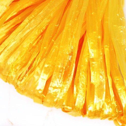 5m jaune perle plate raphia bande en nylon de broderie à la main en fil d'orfèvrerie luneville tambo sku-133583