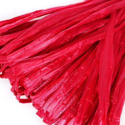 5m rouge cerise perle plate raphia bande en nylon de broderie à la main en fil d'orfèvrerie lunevill sku-133584