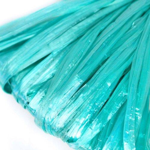 5m bleu turquoise perle plate raphia bande en nylon de broderie à la main en fil d'orfèvrerie lunevi sku-133585