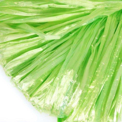 5m lumière de perle verte plat raphia bande en nylon de broderie à la main en fil d'orfèvrerie lunev sku-133586