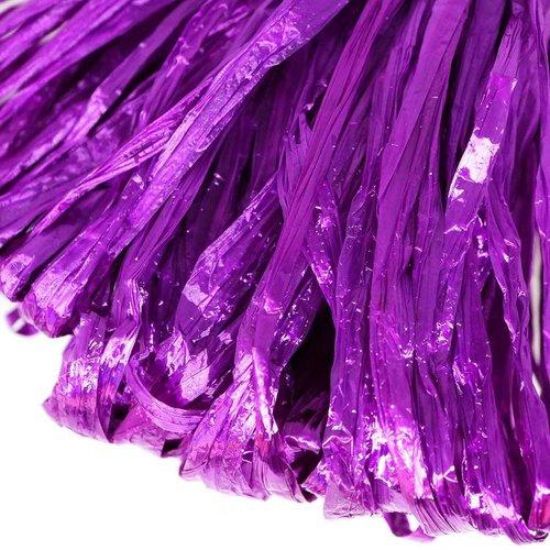 5m violet perle plate raphia bande en nylon de broderie à la main en fil d'orfèvrerie luneville tamb sku-133588