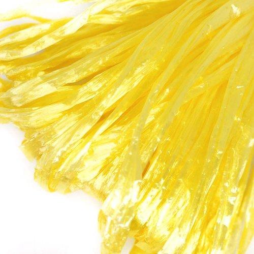 5m de citron jaune perle plate raphia bande en nylon de broderie à la main en fil d'orfèvrerie lunev sku-133594