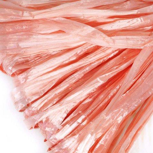 5m perle rose plat raphia bande en nylon de broderie à la main en fil d'orfèvrerie luneville tambour sku-133595