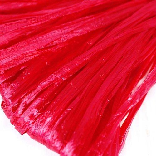 5m rouge cerise perle plate raphia bande en nylon de broderie à la main en fil d'orfèvrerie lunevill sku-133599