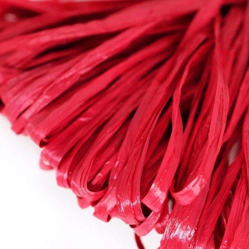 5m rouge cerise mat plat raphia bande en nylon de broderie à la main en fil d'orfèvrerie luneville t sku-133613