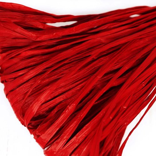 5m rouge grenat mat plat raphia bande en nylon de broderie à la main en fil d'orfèvrerie luneville t sku-133614