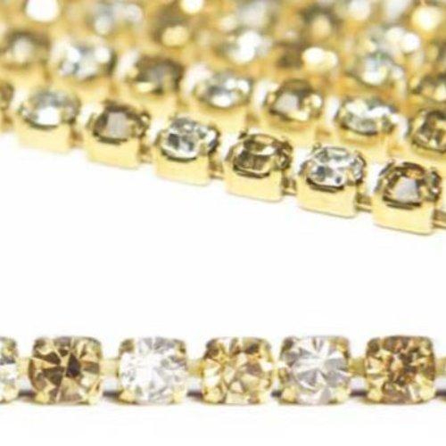 1m de 1 1 mètres le quartz fumé coupe en argent chaîne en laiton strass garniture de bijoux en crist sku-133769
