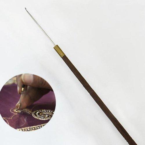 1pc bois de fer des paillettes à coudre de broderie aari de minuscules aiguilles à perles orfèvrerie sku-133778
