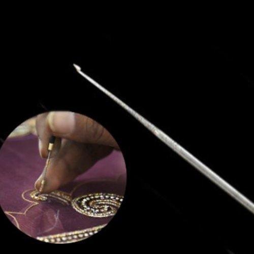 1pc de fer en paillettes de couture française fil de graines de broderie aari des petites aiguilles  sku-133786