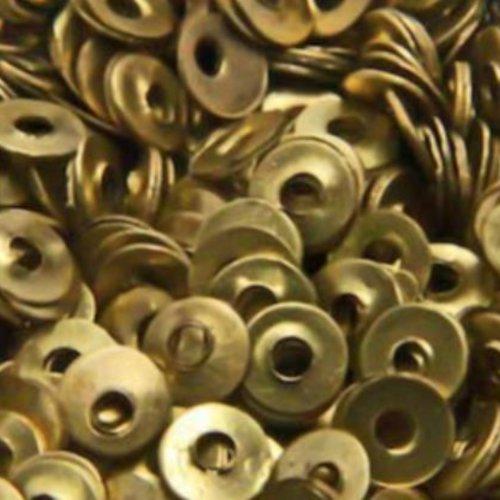 10g d'or en laiton rond en métal métallique paillettes à coudre sur la décoration de broderie à la m sku-133753