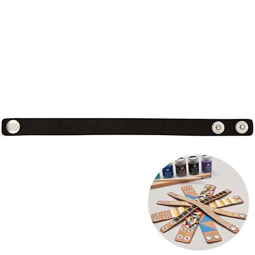 1pc noir faux cuir minimaliste bracelet manchette base vide rico design 22cm x 1 résultats bricolage sku-133000