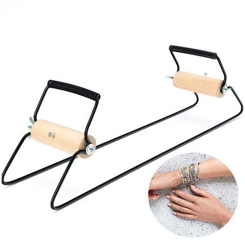 1pc noir perle en métal tissage de perles de métier à tisser les débutants bricolage bijoux de la ta sku-133023