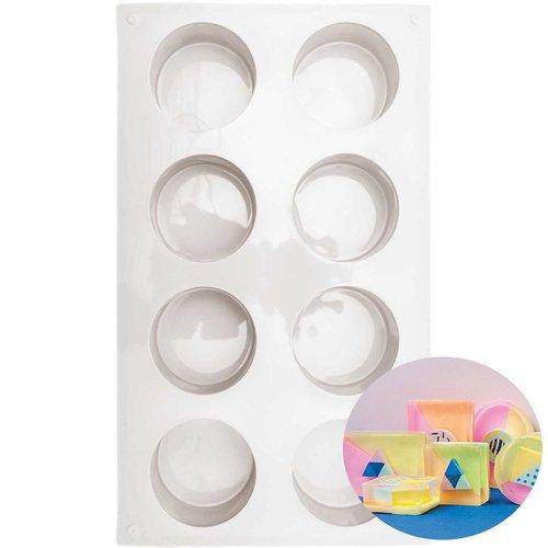1pc 8 autour de moule en silicone de réglage du support de savon plaque de cuisson fondant de cuisin sku-133053